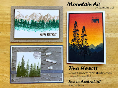 Mountain Air card class cards www.tinascreativestudio.com