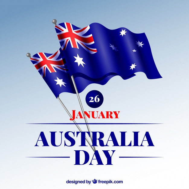 Autralia day background Free Vector