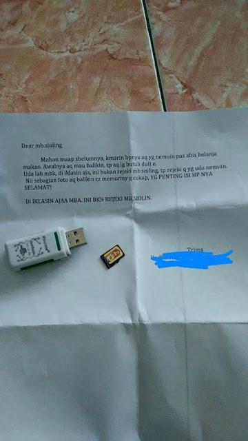 HP Hilang Setelah Beberapa Hari Ditemukan Seseorang Kirim Surat Begini, Jadi Ngelus Dada Bacanya