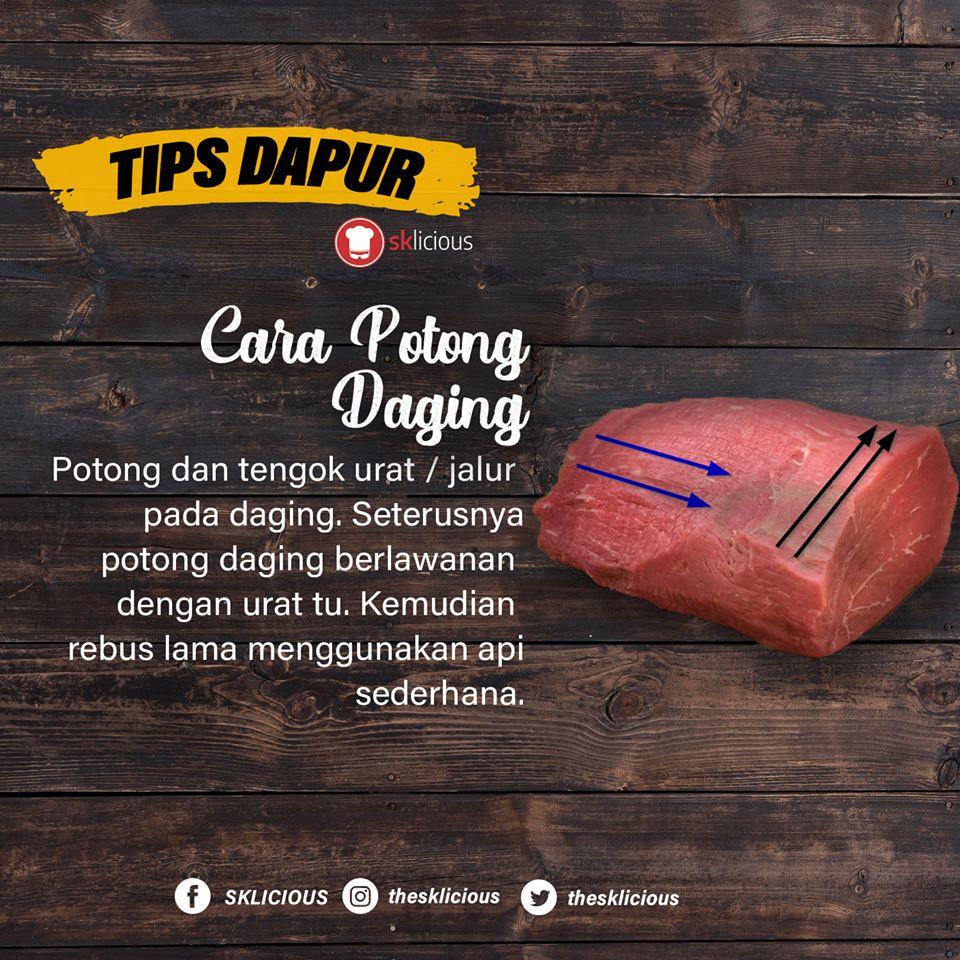 tips dapur cara lembutkan daging