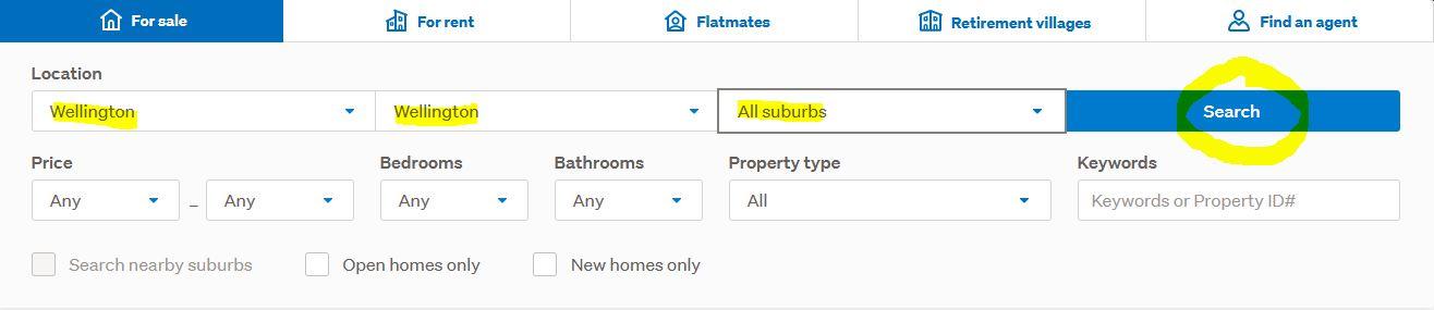 Trade Me Property Search