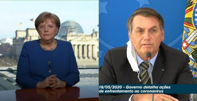 Merkel e Bolsonaro