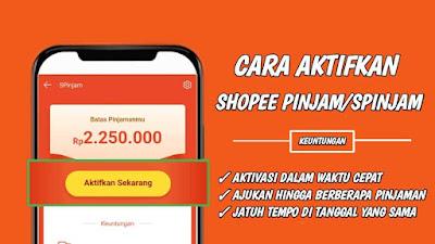 Cara Mengaktifkan Shopee Pinjam (SPinjam) di Aplikasi Shopee