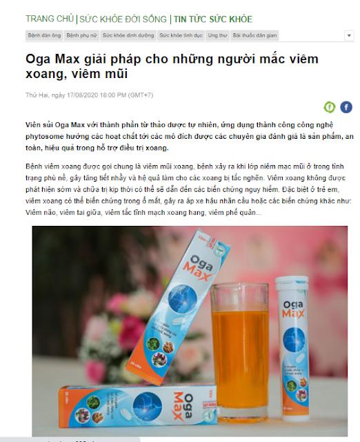 vien sui xoang Oga Max review tu bao chi