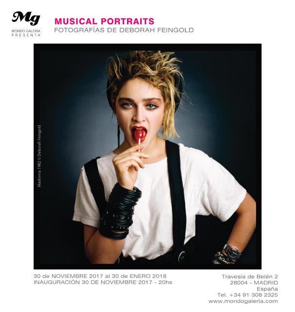 Retrato de Madonna para el cartel promocional de la exposición Musical Portraits