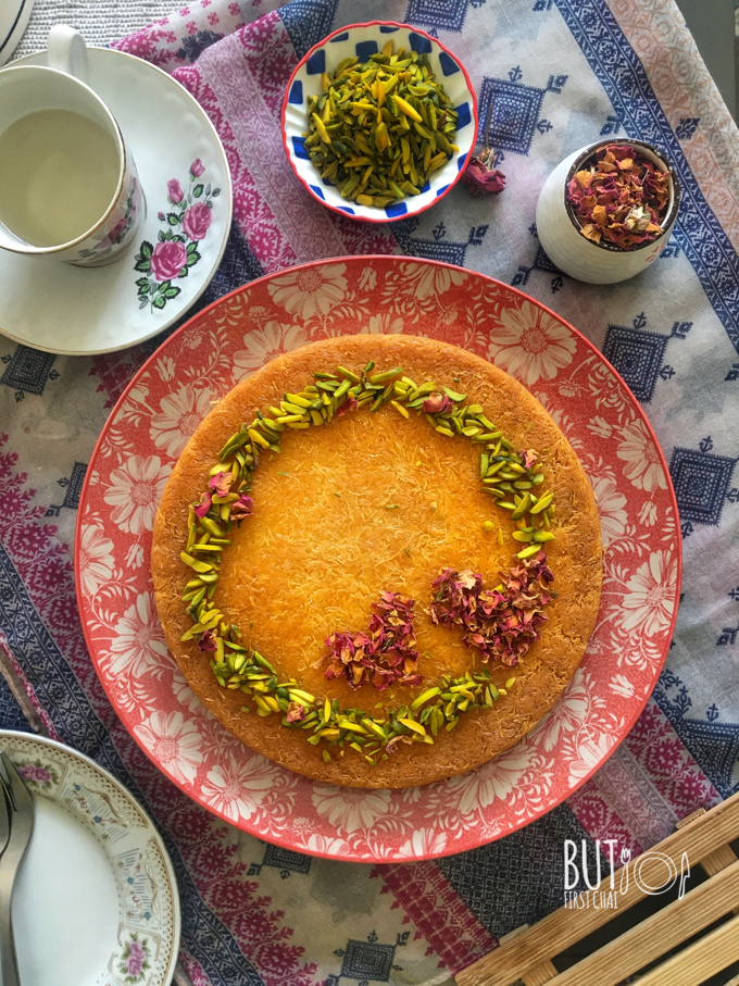 Kunafa with cream recipe