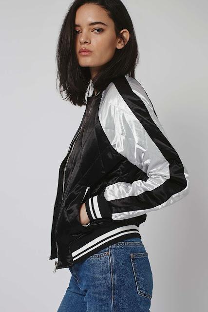 black silver bomber jacket, silver silk bomber jacket, topshop quilted bomber jacket,