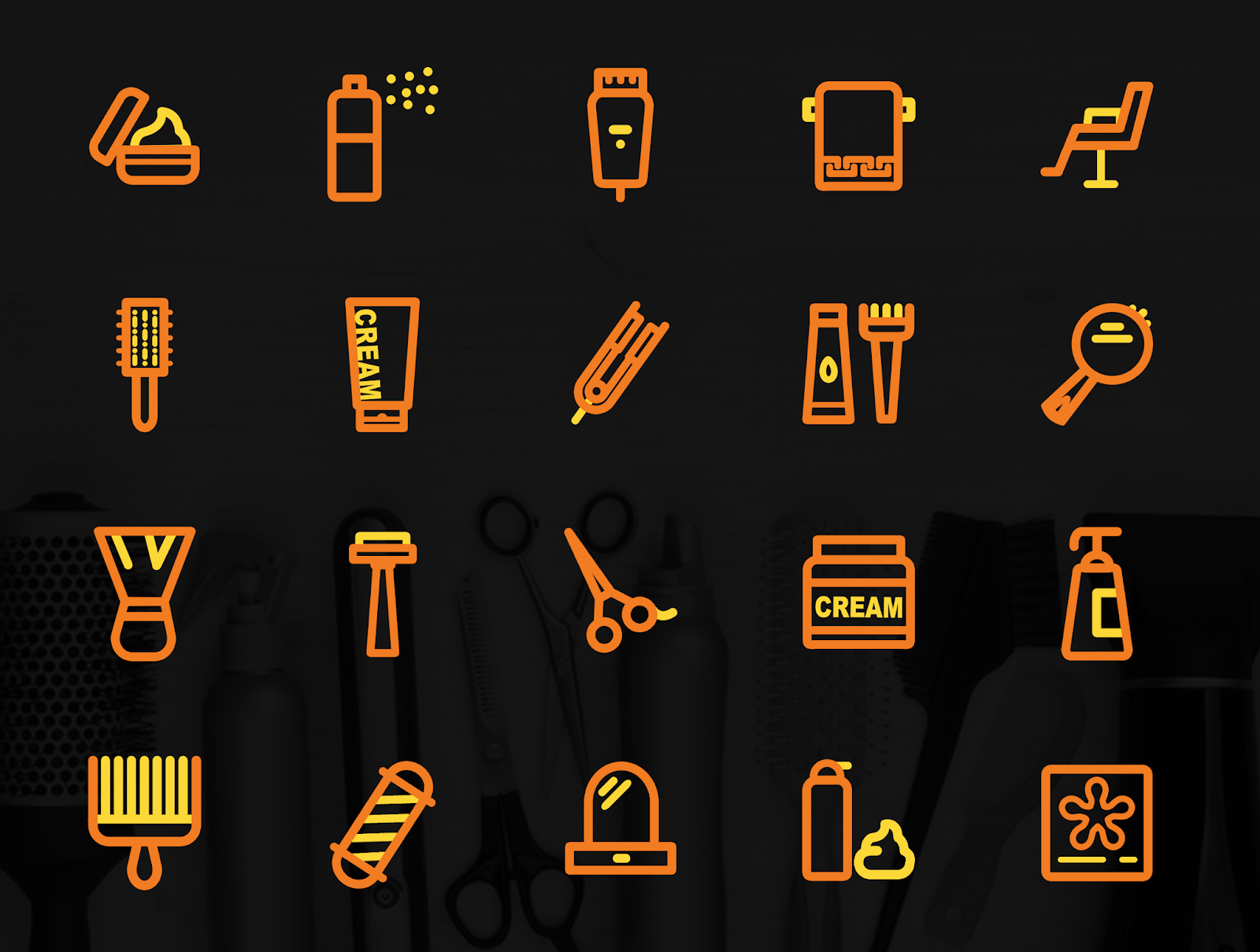 Salon Icon Pack Free PSD Download