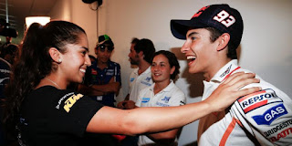 Marc Márquez about his wife