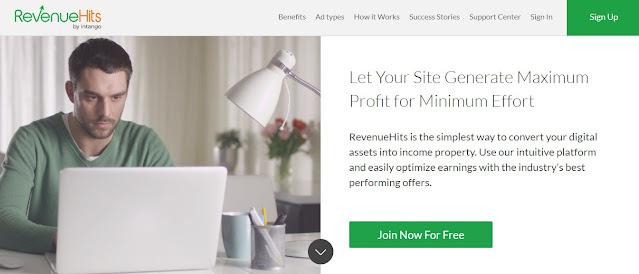 بديل جوجل ادسنس Revenue Hits