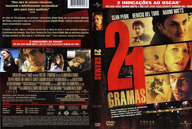 Capa DVD 21 GRAMAS