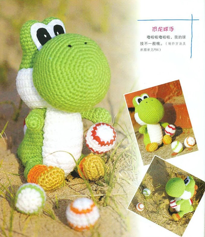 Yoshi Amigurumi Stuffed Yoshi Handmade Crochet Super Mario Toy ... | 785x680