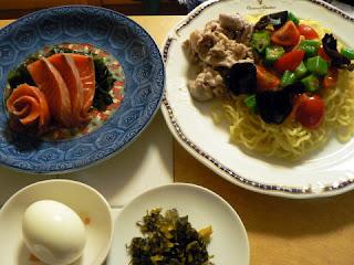 夕食の献立 献立レシピ 飽きない献立 カラフル冷やしラーメンセット