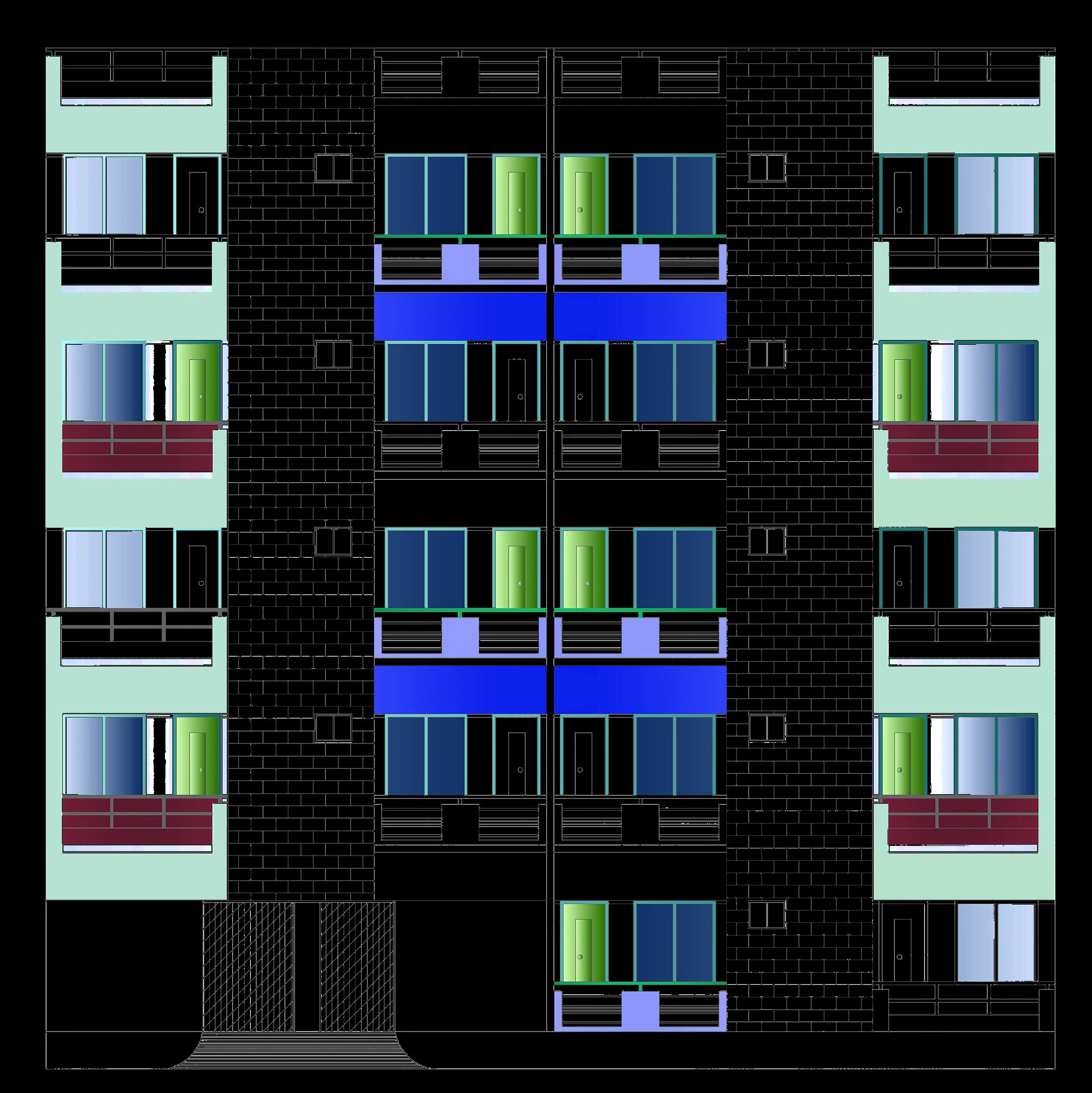 Front elevation of floor plan