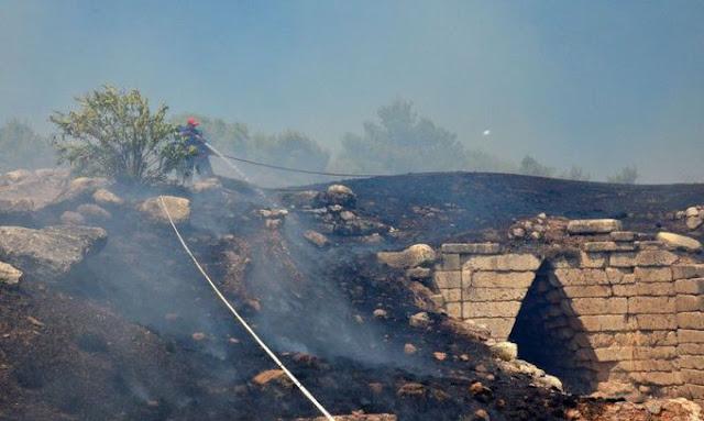 Η πυρκαγιά στις Μυκήνες έκαψε ξανά την ενημέρωση