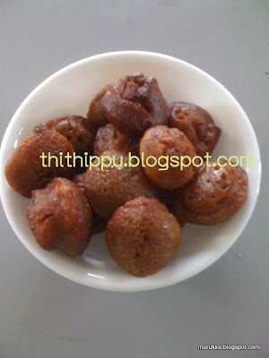 fried sweet with rice flour and jaggery