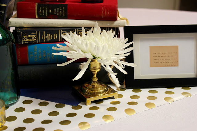 Vintage Library Wedding Reception