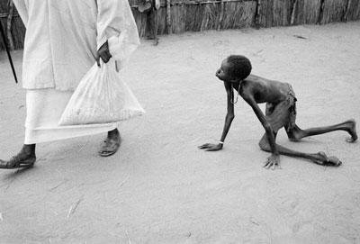 foto tragedi kelaparan di sudan