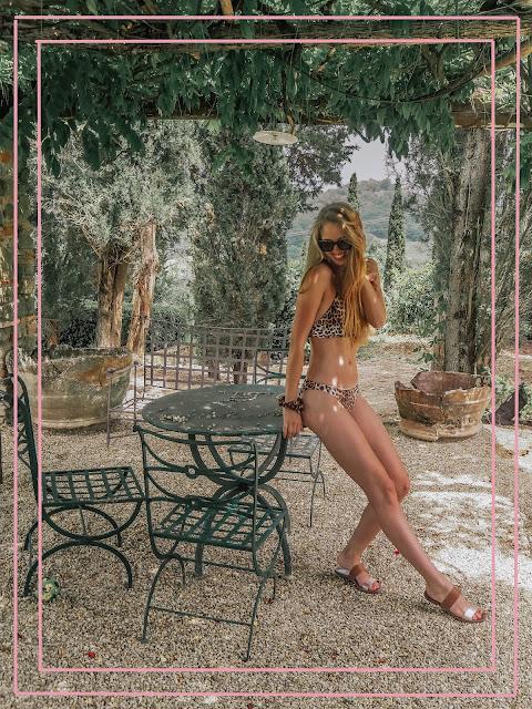 H&M leopard print bikini fashion blogger