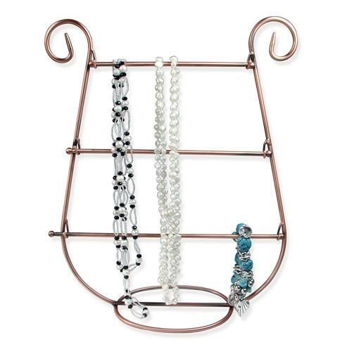Metal Harp Shaped Jewelry Display Hanger Stand