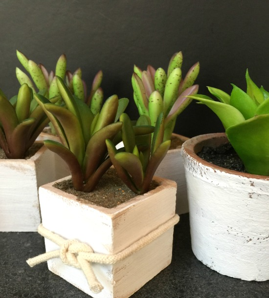 Create decorative pots for faux succulents. www.homeroad.net