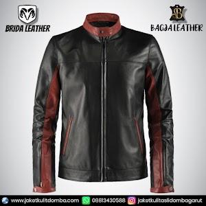Jual Jaket Kulit Asli Garut Pria Domba Original Brida Leather B25   WA 08813430588