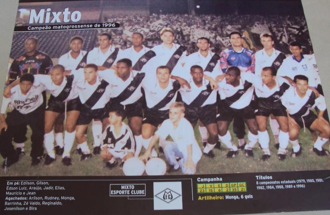 Edílson, Josenilson, Edson Luís (Zé Valdo), Jadir, Maurício, Araújo, Elias, Reginaldo, Valdecir, Barrinha e Monga.