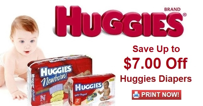 Huggies Diaper Coupons  Save up to $7.00 off