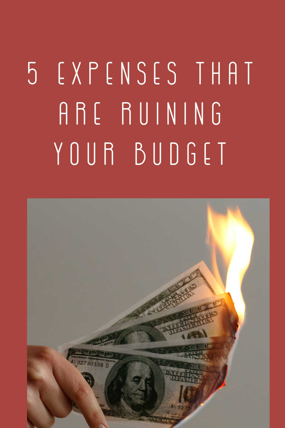 expenses ruin budget