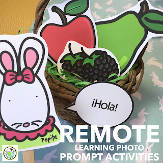 Remote Learning Photo Prompt Activities for Elementary Spanish