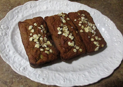 Too much sugar passing through my house lately.  This banana bread did the trick!