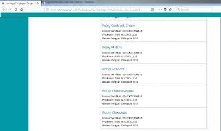 Es Krim Pocky Glico Wings Halal atau Haram