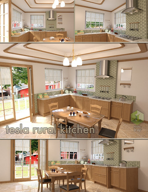 Tesla Rural Kitchen