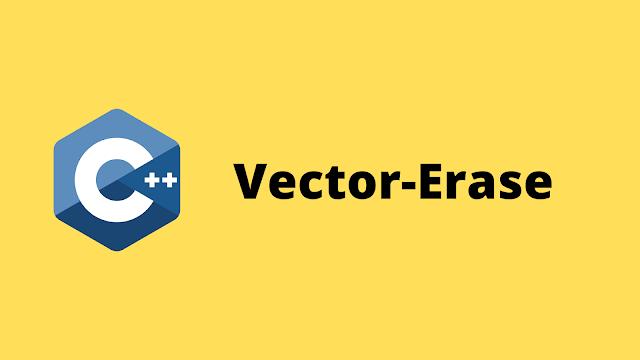 HackerRank Vector-Erase solution in c++ programming