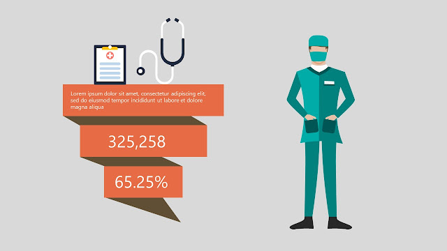Free Infographic Powerpoint Templates used in Medical Presentation with medical treatment