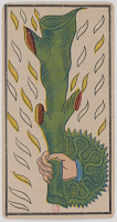 Ace of Wands, Tarot de Marseille, Public Domain.