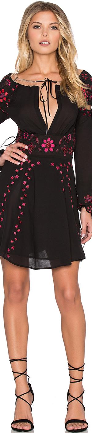 For The Love & Lemons Niccola Mini Dress