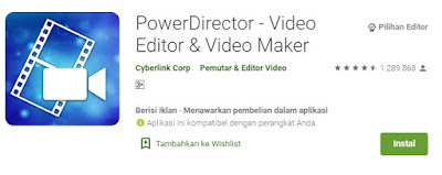 Aplikasi edit video hp android terbaik -power director