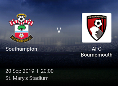 LIVE MATCH: Southampton Vs AFC Bournemouth Premier League 20/09/2019