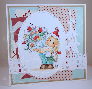 Heather's Hobbie Haven - Tilda with a Big Bouquet Card Kit