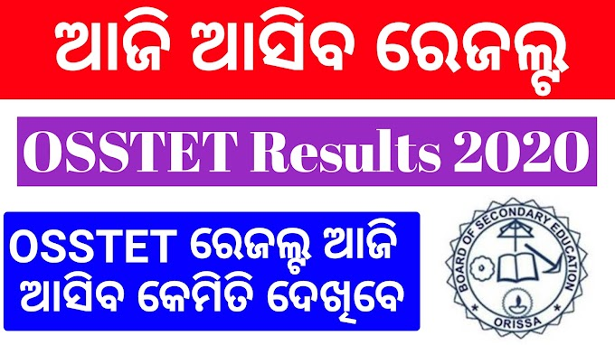 OSSTET Results 2020 BSE Odisha Results How To Check Online