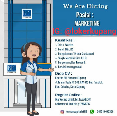 Lowongan Kerja BFI Finance Kupang Sebagai Marketing