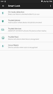 Cara Menggunakan Fitur Smart lock Untuk Smartphone Android