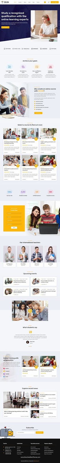 Download Online Courses & Training Template