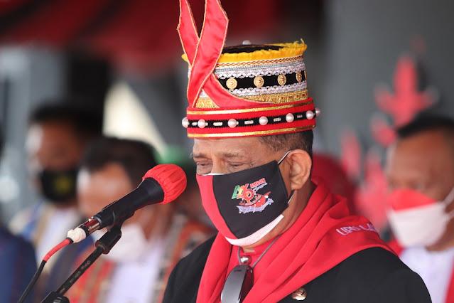 Richard Louhenapessy Pimpin Upacara HUT Ke 446 Kota Ambon.lelemuku.com.jpg