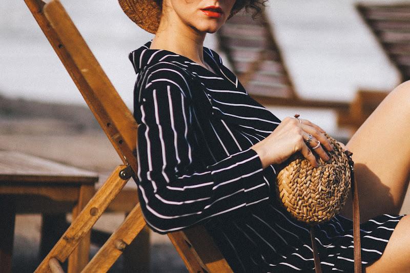 соломенная сумка и шляпа