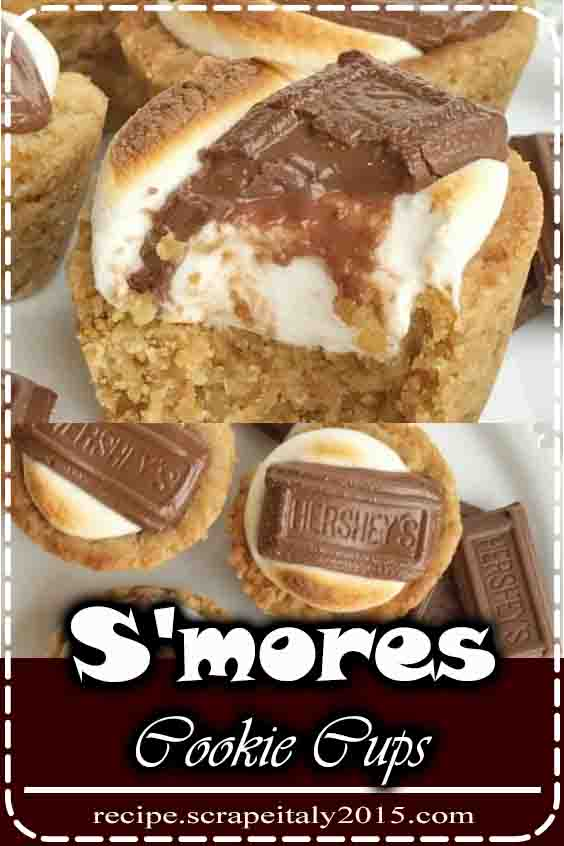 S'mores cookie cups square measure baked during a mini quick bread pan. cracker cookie base, with a cooked candy, and a bit of icky chocolate on top! currently you'll relish fire toasty s'more all year spherical for course.