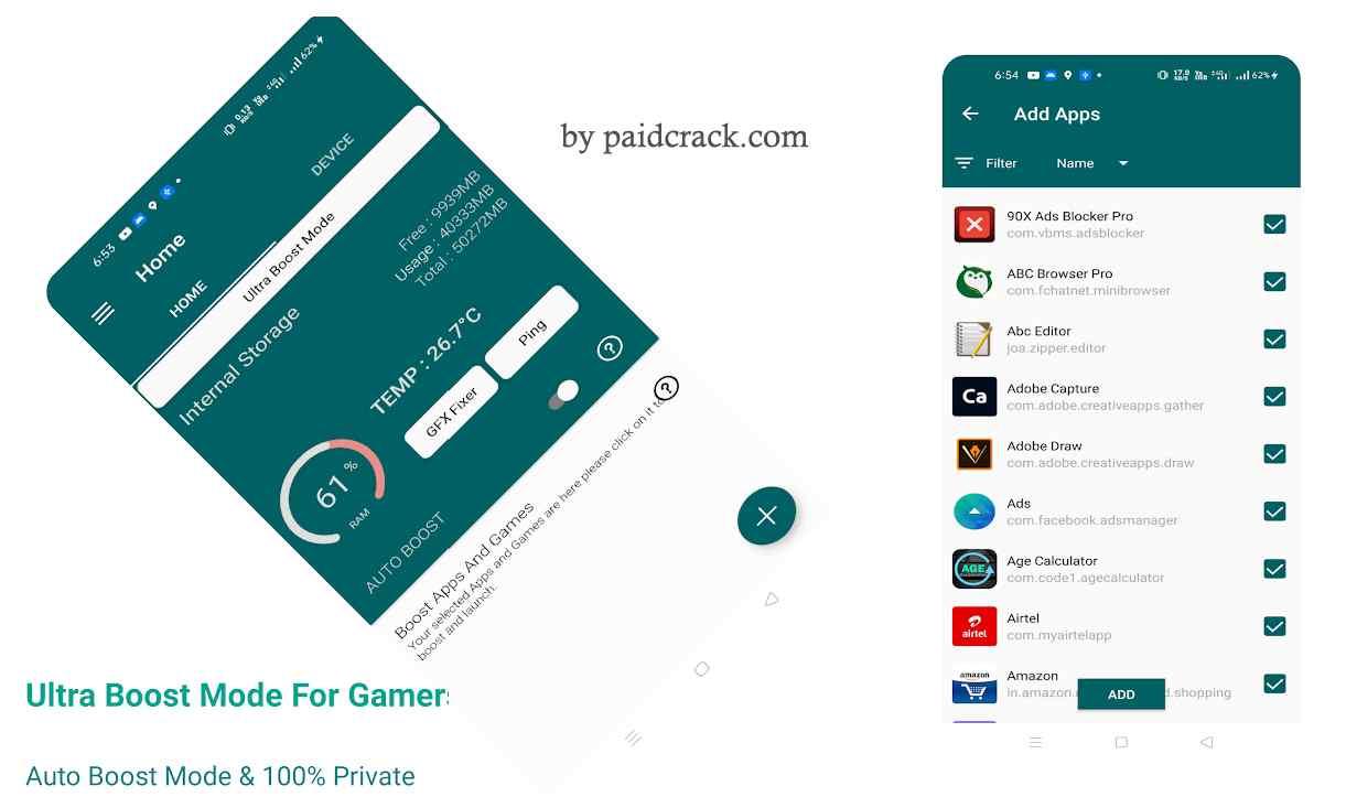 Game Booster Premium - Free Fire GFX & Lag Fixer Paid Apk 1.2