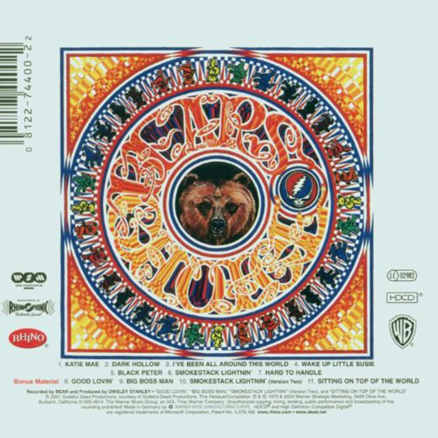 Classic Rock Covers Database Full Album Torrents Grateful Dead History Of The Grateful Dead Volume One Bear S Choice 1973