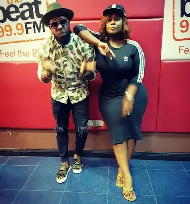 Toolz Shows Off Curves with a Poses With Timaya